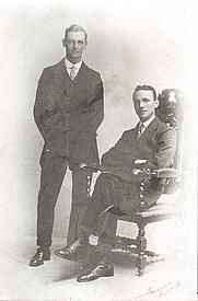 Author photo. G.B. Edwards on the right