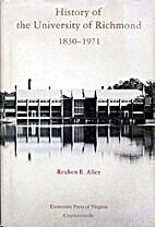 History of the University of Richmond,…