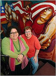 Author photo. Sondra Solovay, left