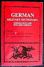 German Military Dictionary by U. S. War…