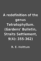 A redefinition of the genus Tetratophyllum.…