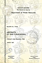Abstracts of DWR Publications (Bulletin No…