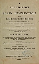 A foundation and plain instruction of the…