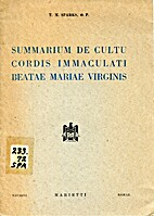 Summarium De Cultu Cordis Immaculati Beatae…