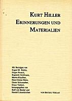 Kurt Hiller : Erinnerungen und Materialien…
