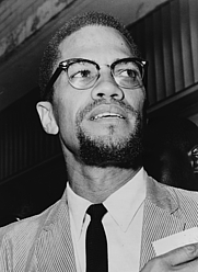 Author photo. Malcolm K. Little / Malcolm X in the last months of his life.