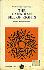 The Canadian Bill of Rights by Walter…