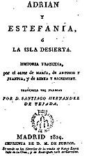 Adrian y Estefanía, ó La isla desierta by…