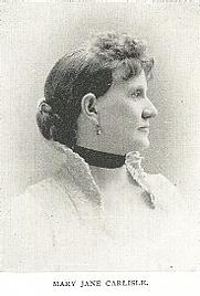 Author photo. Mary Jane Goodson Carlisle (b.1835) Buffalo Electrotype and Engraving Co., Buffalo, N.Y.