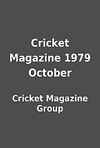 Cricket Magazine 1979 October by Cricket…
