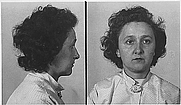 Author photo. Police mugshot of Ethel Rosenberg (Dept. of Justice, Office of the U.S. Attorney for the Southern Judicial District of New York)