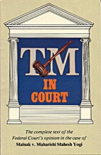 TM in Court by Spiritual Counterfeits…