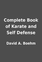 Complete Book of Karate and Self Defense by…