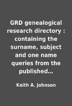 GRD genealogical research directory :…