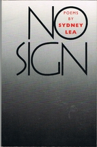 No sign : poems by Sydney Lea