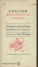 English Renaissance Poetry: A Collection of…