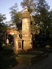 Author photo. Grave of Václav Hanka, Vyšehrad Cemetery, Prague (Photo credit: Miaow Miaow (wikipedia user) , October 2005