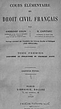 Cours élémentaire de droit civil français…