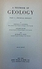 A textbook of geology by Chester R. Longwell