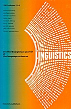 Linguistics 21 (1983) 4: 557-656
