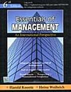 Essentials of Management by Harold Koontz