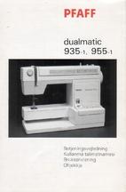 Pfaff Dualmatic 935-1, 955-1…