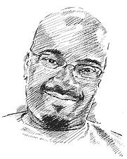Author photo. Sketch by Morgan Williams
