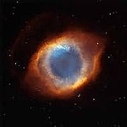Author photo. Iridescent Glory of Nearby Helix Nebula (aka The Eye of God) as photographed by The Hubble Telescope