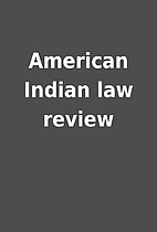 American Indian law review
