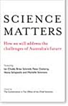 Science matters : how we will address the…