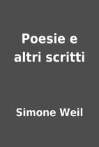 Poesie e altri scritti by Simone Weil