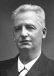 Author photo. Klas Pontus Arnoldson. Photo by Generalstabens Litografiska Anstalt (General Staff Lithographic Institute).