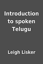 Introduction to spoken Telugu by Leigh…