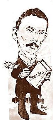Author photo. Euclides da Cunha (1866—1909) Caricature by Raul Pederneiras, 1903 (Wikipedia)