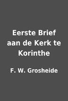Eerste Brief aan de Kerk te Korinthe by F.…