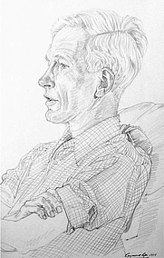 Author photo. David Charles McClintock.Drawing by Raymond Piper.