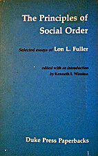 Principles of Social Order: Selected Essays…