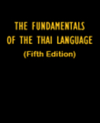 Fundamentals of the Thai Language by Stuart…