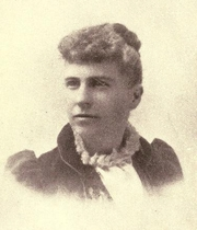 Author photo. Abbie Gardner-Sharp. Frontispiece from History of the Spirit Lake massacre and captivity of Miss Abbie Gardner (1895)