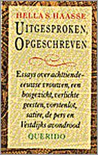 Uitgesproken, opgeschreven: Essays over…