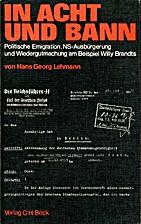 In Acht und Bann : politische Emigration,…