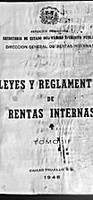 Leyes y reglamentos de rentas internas :…