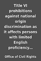 Title VI prohibitions against national…