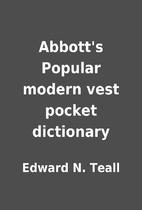 Abbott's Popular modern vest pocket…