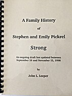 A Family History of Stephen and Emily…