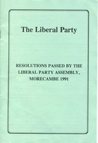 Resolutions Passed by the Liberal Party…
