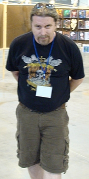 Author photo. Bob Eggleton at Worldcon in Denver in 2008 [source: Peter & Joyce Grace from Simi Valley, CA, USA via Wikipedia]