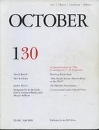 OCTOBER 130: ART/ THEORY/ CRITICISM/…