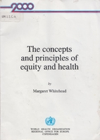 The concepts and principles of equity and…