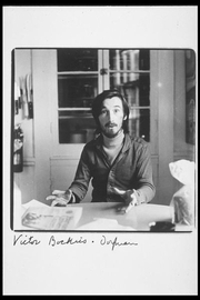 Author photo. portrait of Victor Bockris by Elsa Dorfman, www.elsa.photo.net early seventies.